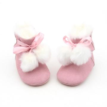 Warm Newborn Winter Baby Girl Bowknot Snow Boots