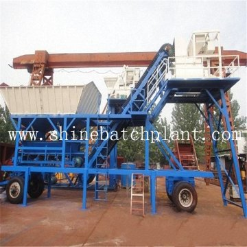 40 Wet Construction Mobile Concrete Plant