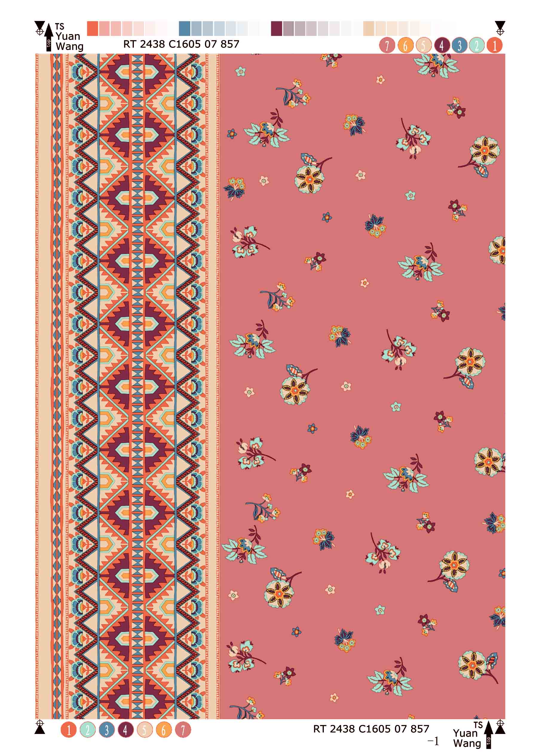 Rayon Twill Printing Fabric Border