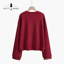 Round Neck Men's Knit Cotton Leisure Sweatshirt