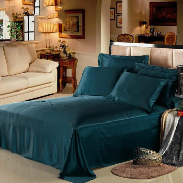 100% Pure Silk Seamless Silk Flat Sheet King