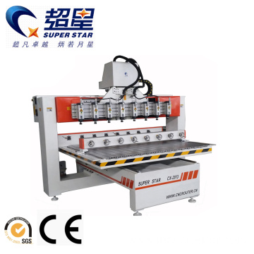 3D Sculpture CNC Router with 8 Heads