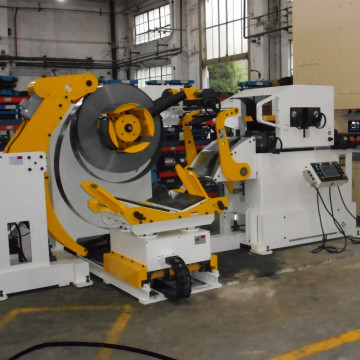Servo feeder leveler uncoiler 3 in 1 machine