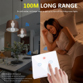 E26 E27 Lamp Holder Bulb Smart Switch Light Touch Wireless 1/2/3 Gang 433Mhz RF Remote Control Wall Panel Home 110V 220V