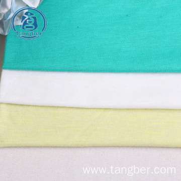 100% spun polyester slub jersey fabric for tshirts