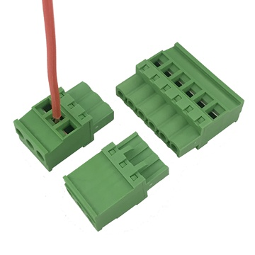 straight angle Pluggable female terminal block connector