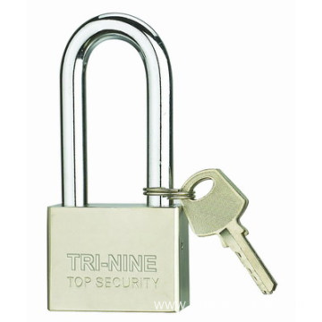 Square Pins Iron Padlock With Long Shackle 30mm