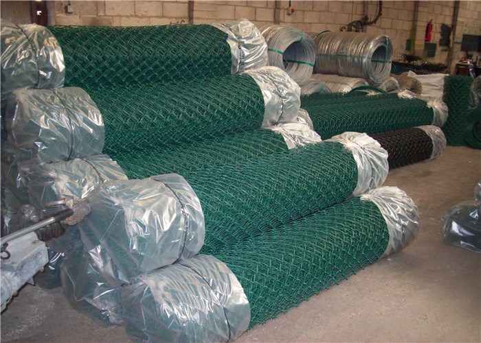 Green Chain Link Fencing for garden