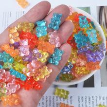 10pcs/bag Cartoon Soft Candy Bear Plasticine Molds Slime Supplies Super Light Clay Playdough DIY Glue Mud Materials Slime Filler