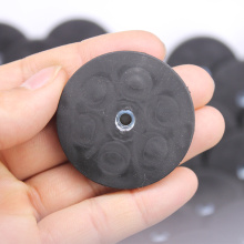 Rubber Coated Round Magnet with screw hole