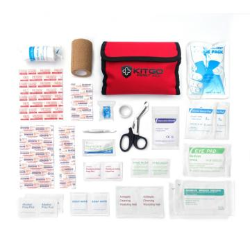 Kit go 60 pieces handy first aid kit bag with medical supplies for home travel dog
