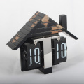 Wooden House Flip Clock for Table