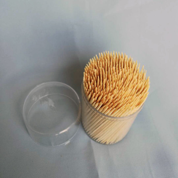 High Quality Hygienic Bamboo Toothpick Middle Round Bottle
