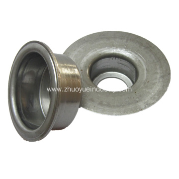 Belt Conveyor Roller Parts Stamped Ball Bearing Housing