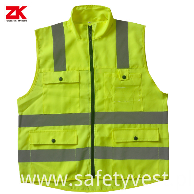 Multi Pockets Warning Vest