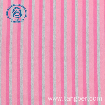 100% cotton yarn dyed stripe knitting fabric cotton