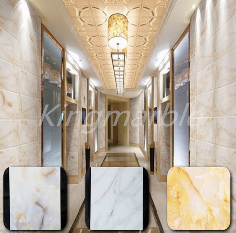 Uv decorative  pvc wall panel with marble design