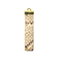 Fashion Python Leather Striped Key Chain With Logo