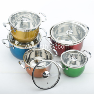 Capsuled Bottom Multiclad Stainless Steel Cookware Set
