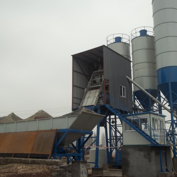 HZS50 small capacity stationary concrete batching plant