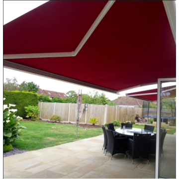 Retractable arms awning Sun Proof