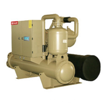 Screw brine chiller for HVAC system