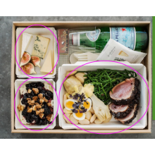 Take away paper food box with clear lid