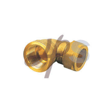 Brass compression 90 female elbow fitting