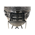 SS and steel ceramic kamado grill mini