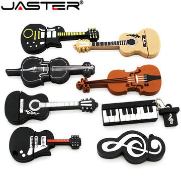 JASTER Flash drive musical instrument flash memory card with usb interface2.0 16GB 32GB 64GB cartoon Memory Stick U disk gift