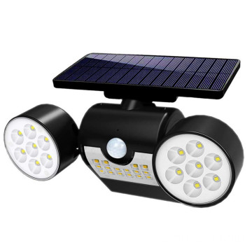 Solar Powered Head Spotlight Flood Security Wall Light