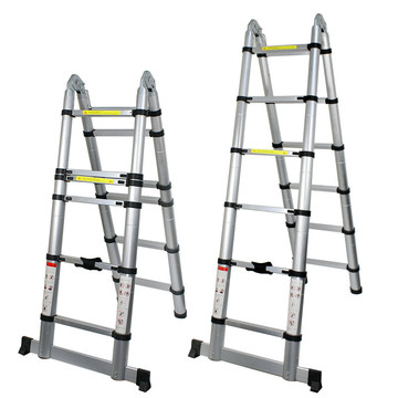 foldable telescopic ladder with joint