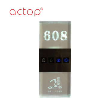 Hot Sale glass Doorplate For Smart Hotel