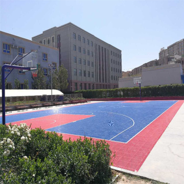 Double layer Basketball court tiles