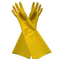 Yellow dipping flannelette gloves 60cm