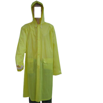 High quality Clear PVC raincoat