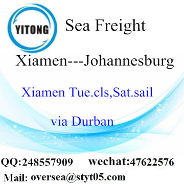 Xiamen Port LCL Consolidation To Johannesburg