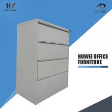 Practical 4 drawers lateral storage steel filing cabinet