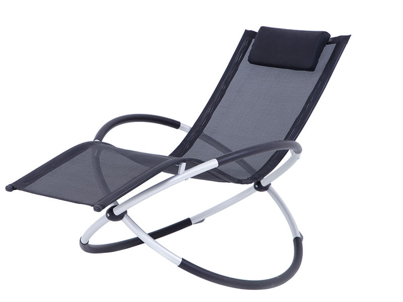 foldable alu. rocking chair S1101