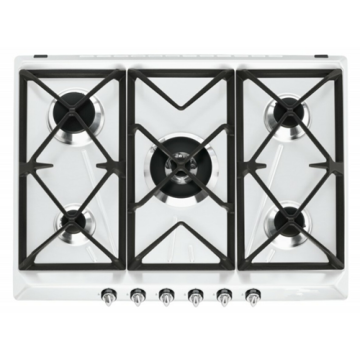 Hob Gas 5 Burner Built-in Stainless Top