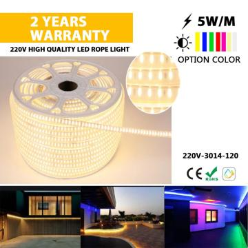slim size LED rope light for outsidw