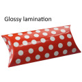 Custom Small Glossy Red Pillow Box