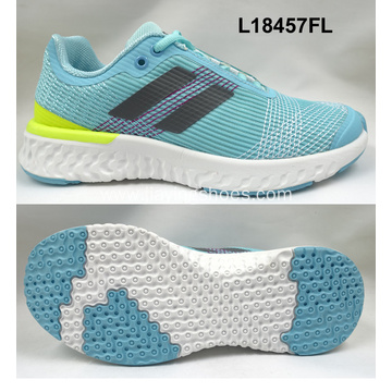 Lady running breathable sports shoes