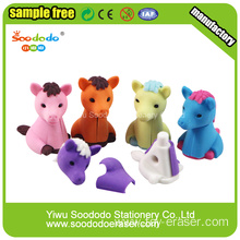 Color Horse 3D Eraser To School,Toys and Promotional Gift