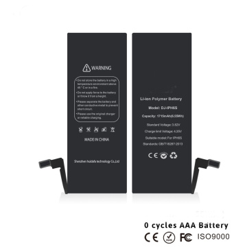 rechargeable lithium-ion cell phone battery for iphone 6s