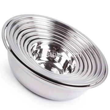 Kitchen Dinnerware Stainless Steel Mixing Food Salad Bowl
