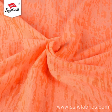Bright Color Polyester Knitted Print Fabrics Rayon
