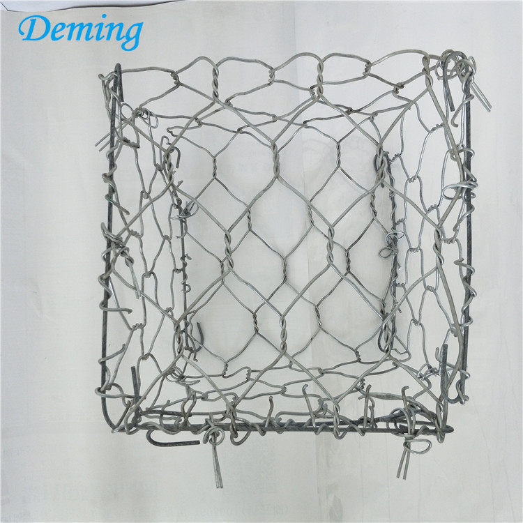 weave gabion mesh wire galvanized for stone cages