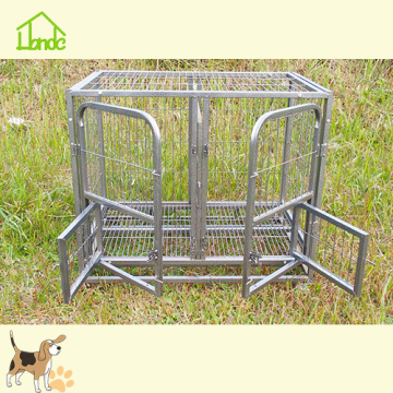 Wire welded iron portable dog kennel cage