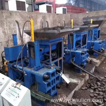 Steel Scissels Filings Chips Horizontal Briquetting Press